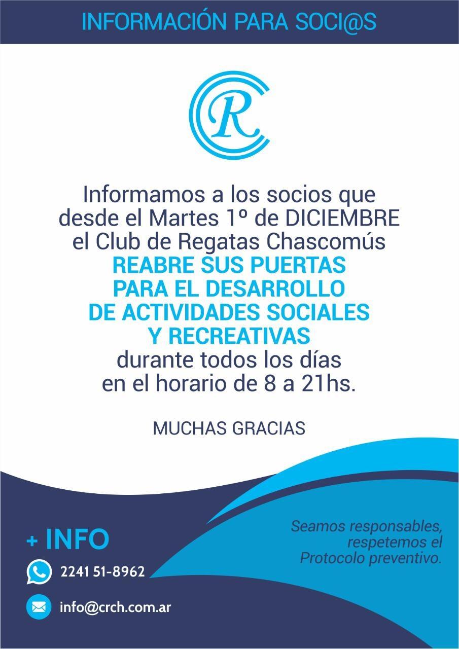 INFORMACIÓN PARA LOS SOCIOS